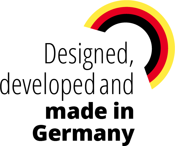 Designed, developed and made in Germany